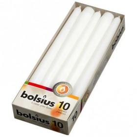 Świece Bolsius 10szt. białe